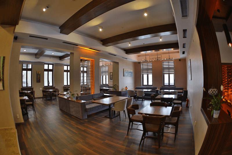 turquoise restaurant interior
