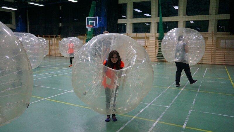 Bubble soccer Cracovia Daniela Bojinca Blog