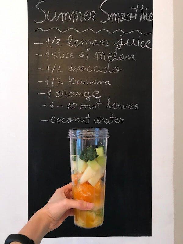 smoothie de vara cu avocado pepene si portocala