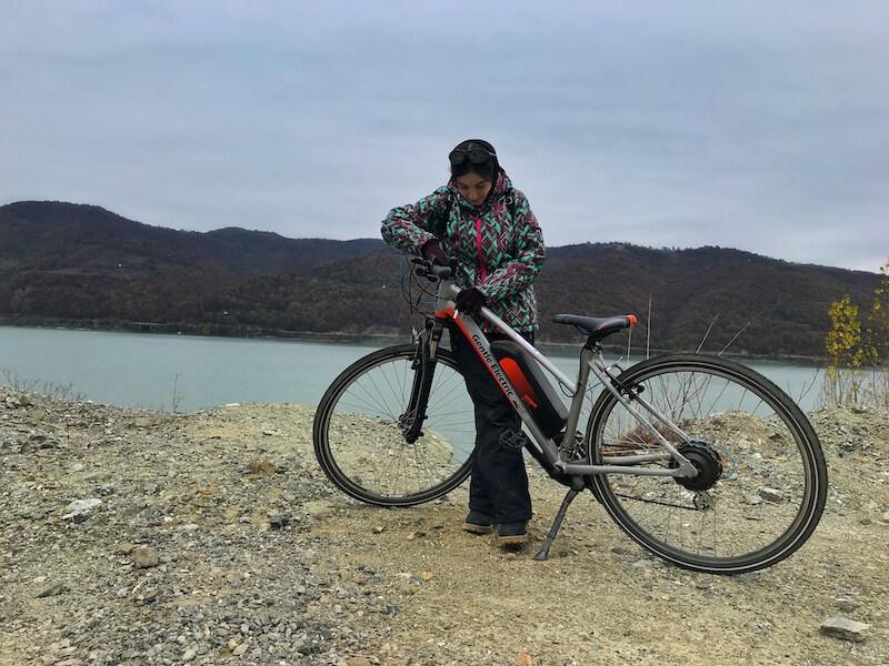 bicicleta electrica traseu montan dunare mehedinti jamp ro bg bike app proiect european daniela bojinca