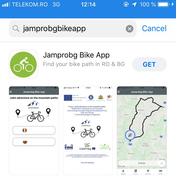 jamp ro bg bike app trasee bicicleta proiect european romania bulgaria