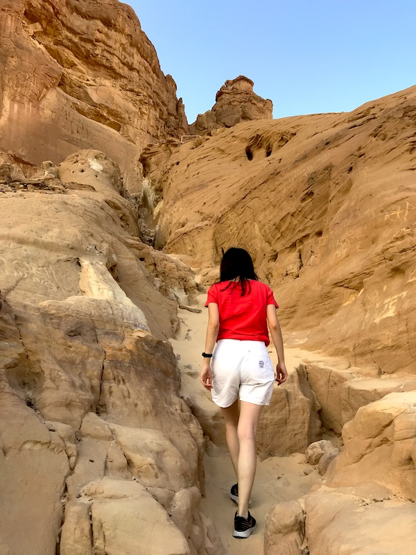 visit israel timna park desert the arches trail walk