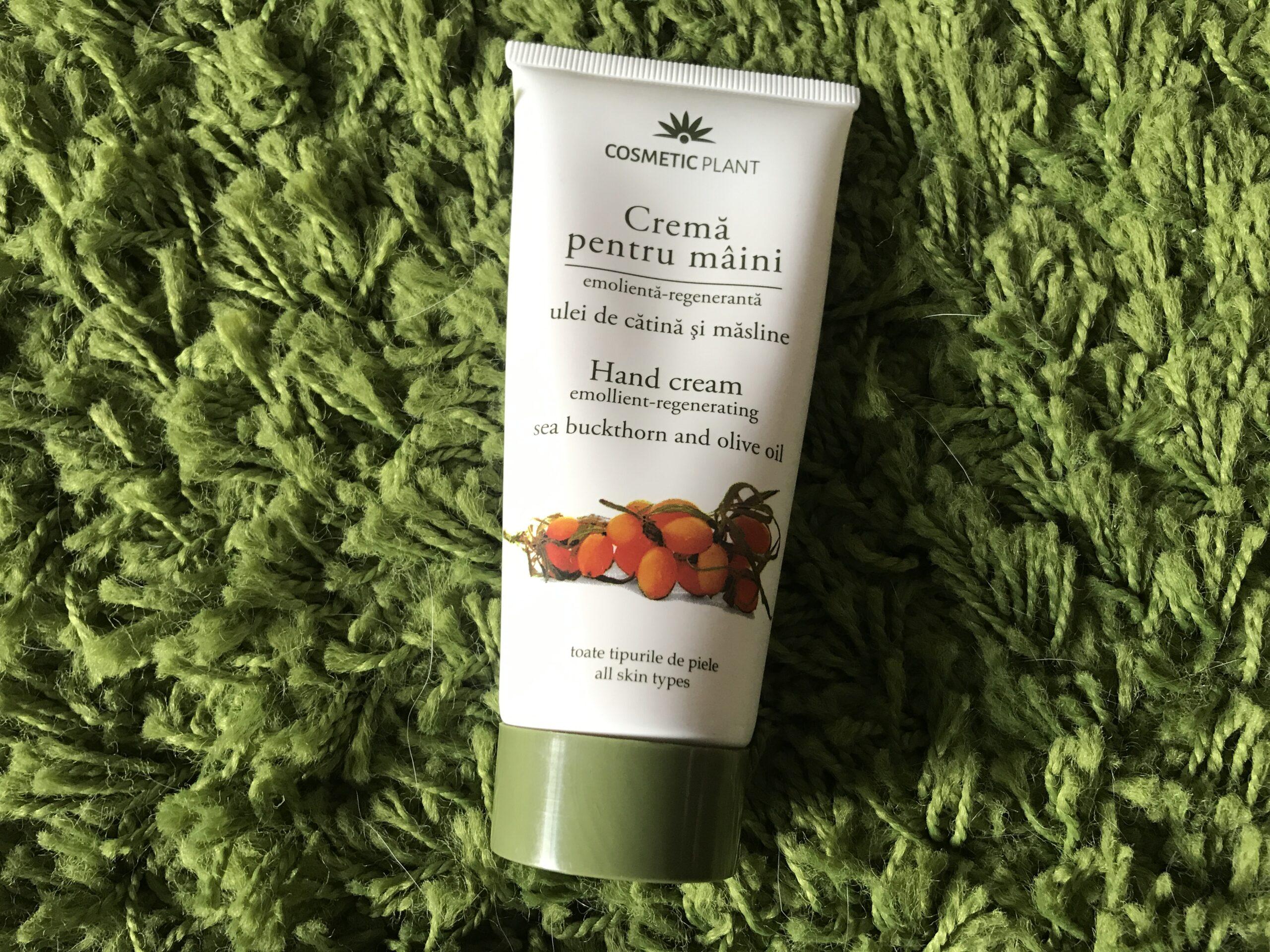 crema pentru maini cu ulei de catina si masline cosmetic plant